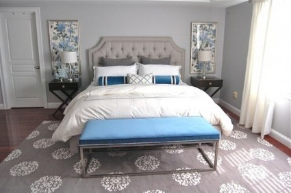 light blue and silver bedroom habitaciones decoradas en azul y gris 19029