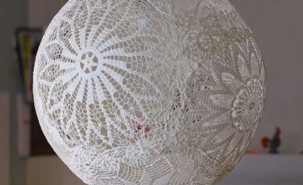 Lámpara crochet