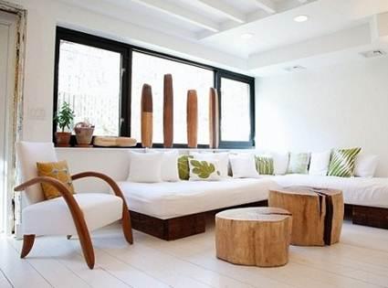 Mesa con troncos