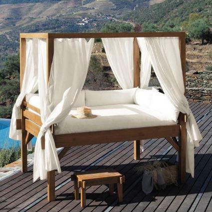 Muebles de exterior con palets de madera