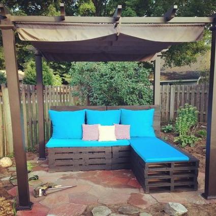 palet mueble jardin