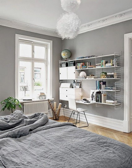 dormitorio color gris