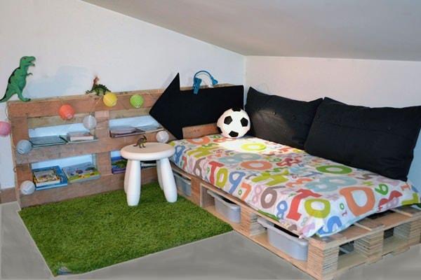 Muebles infantiles con tarimas de madera