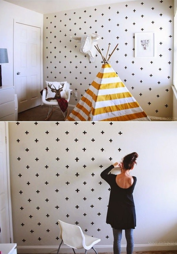 Pared decorada con cintas washi