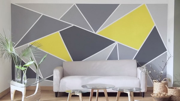 Pintar figuras geométricas sobre la pared