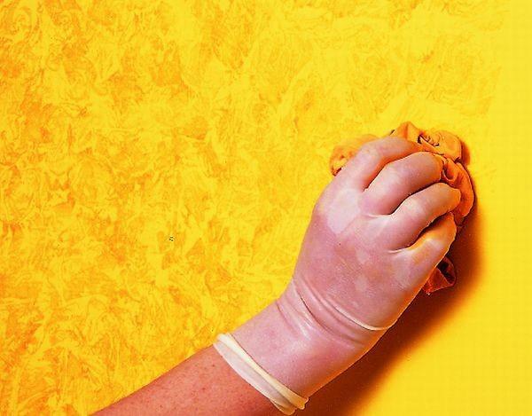 Técnica del drapeado o trapeado