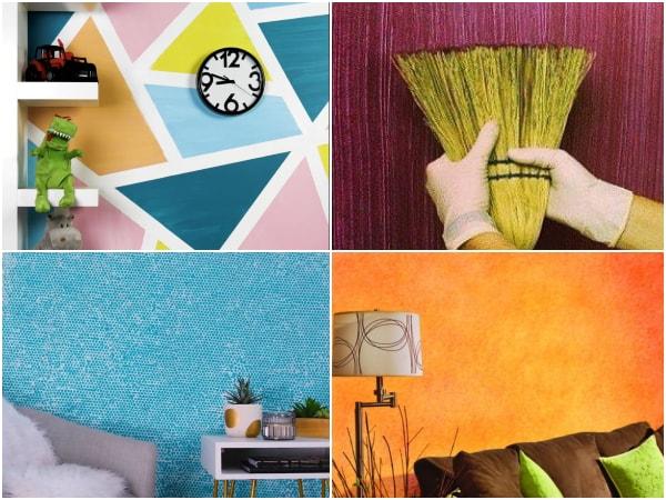 Técnicas para pintar paredes con efectos