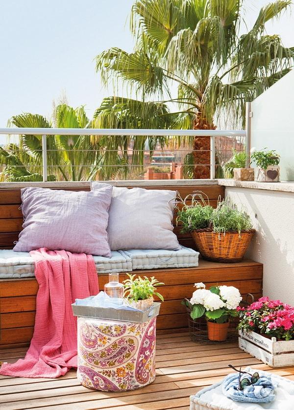 Cojines en la terraza