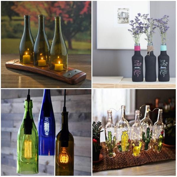 Ideas con botellas de vidrio recicladas