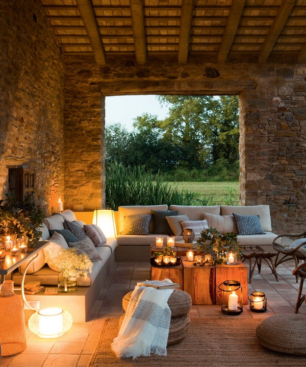 Ideas para decorar exteriores para la noche