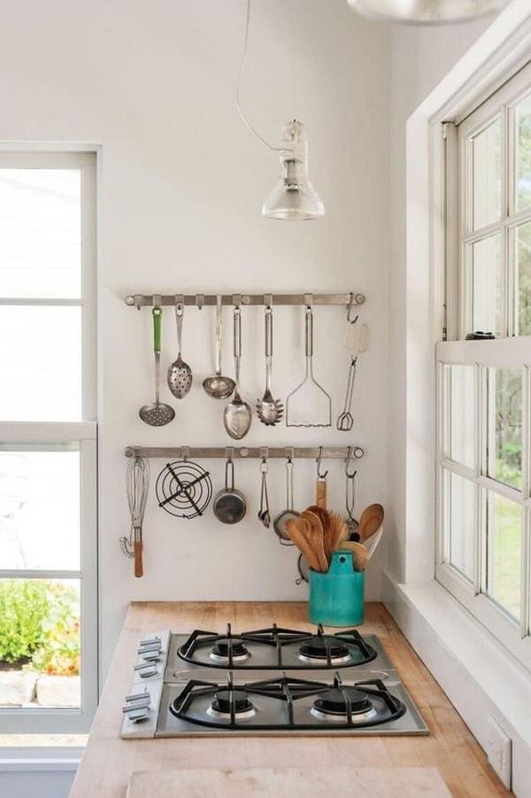 Ideas para aprovechar las paredes en cocinas
