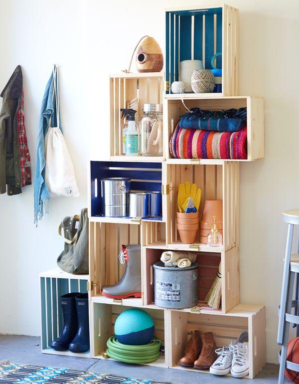 Muebles hechos con cajas de madera