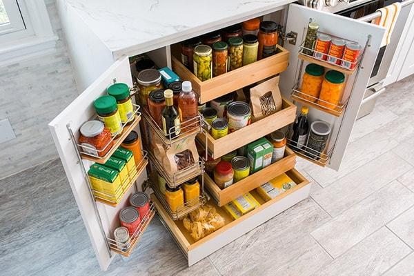 Muebles de almacenamiento para cocinas hechos a medida