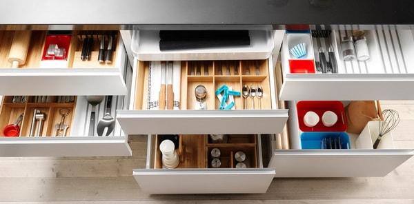 Divisores de gavetas para cocina