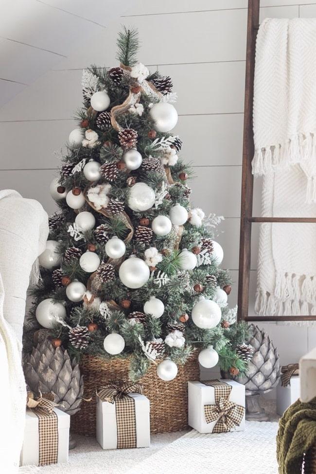 Blanco y plata para decorar la Navidad
