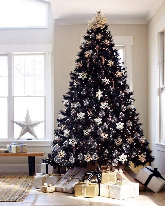 Adornos de Navidad en blanco y negro