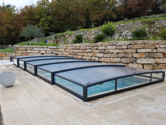 Cubiertas bajas para piscinas