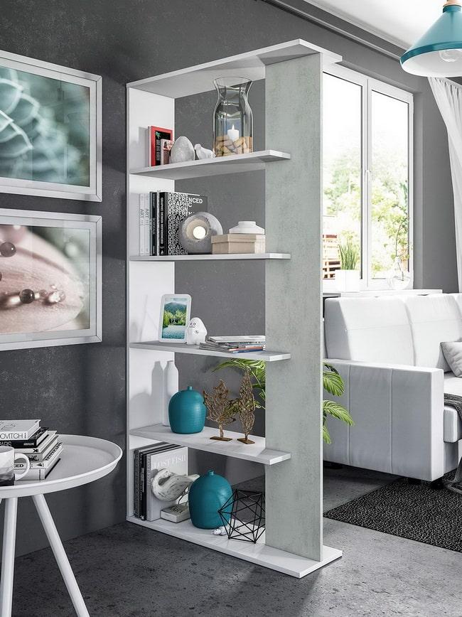 Dividir espacios con estanterías