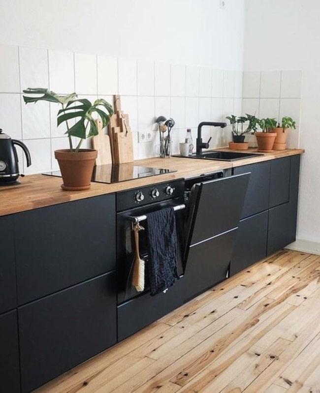 Frentes de cocina en color negro