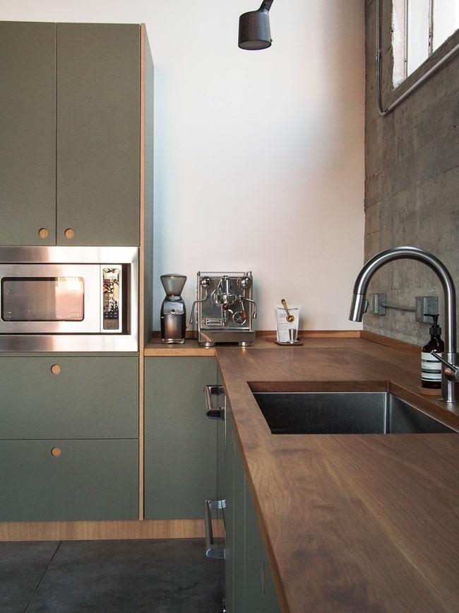 Encimeras de madera en cocinas