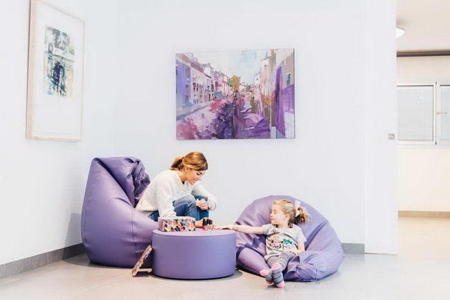 Ideas para decorar con puffs infantiles
